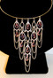 Pink Chandelier Drops Coil Necklace