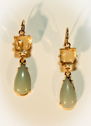 Mint Green Jade Drop Earrings