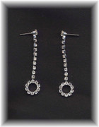 Rhinestone Circle Drop Earrings