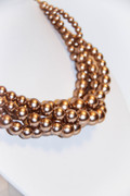 Matt Copper Gold Multi-Row Dress Up Necklace