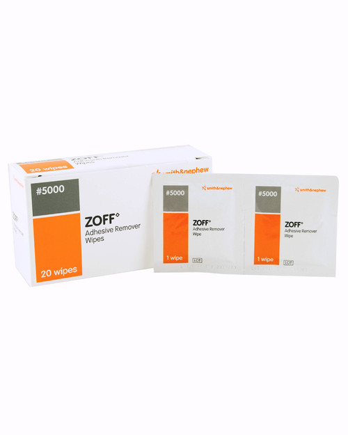 Zoff Plaster Remover Wipes | Pack Shot | Physical Sports First AId