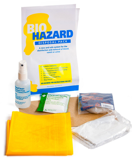 Biohazard Disposal Pack, Contents | Physical Sports First Aid