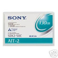 SONY SDX250C//AWW 50GB 130GB SDX-250C TAPES 10 PACK NEW
