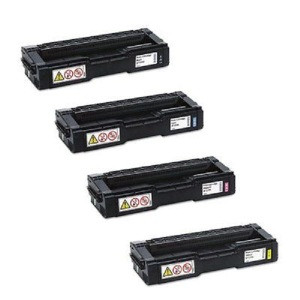 RICOH SPC310HA TONER 4 PACK KYCM GENIUNE RICOH HIGH YIELD NEW