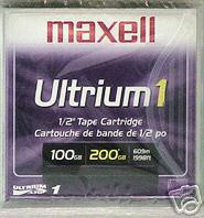 MAXELL LTO1 183800 ULTRIUM 100/200GB LTO-1 TAPES 5 PACK NEW