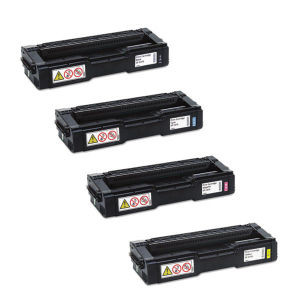 RICOH SPC250A 4 PACK KYCM 407539 407540 407541 407542 SP C250DN SP C250SF GENUINE RICOH NEW