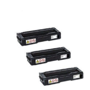 RICOH SPC250A 407539 3 PACK BLACK HIGH YIELD TONERS SP C250DN SP C250SF GENUINE RICOH NEW