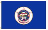 Minnesota 3'x5' Nylon State Flag 3ftx5ft