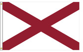 Alabama 4'x6' Nylon State Flag 4ftx6ft