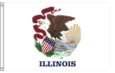 Illinois 4'x6' Nylon State Flag 4ftx6ft