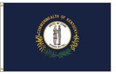 Kentucky 4'x6' Nylon State Flag 4ftx6ft