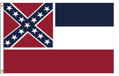 Mississippi 4'x6' Nylon State Flag 4ftx6ft