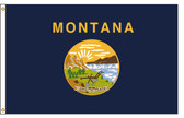 Montana 4'x6' Nylon State Flag 4ftx6ft