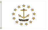 Rhode Island 4'x6' Nylon State Flag 4ftx6ft