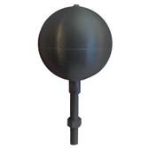 "6"" Inch Black Aluminum Ball Flagpole Ornament"