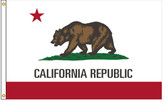 California 5'x8' Nylon State Flag 5ftx8ft