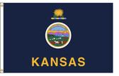 Kansas 5'x8' Nylon State Flag 5ftx8ft