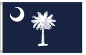 South Carolina 5'x8' Nylon State Flag 5ftx8ft