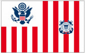 Perma-Nyl 30x48 Inch Nylon U.S. Coast Guard Ensign