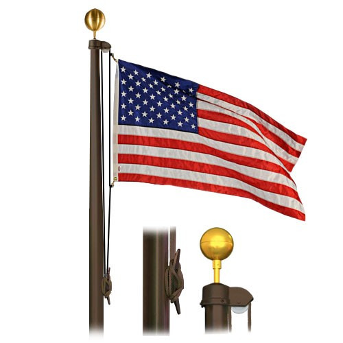 Flag pole bronze finish sectional special budget