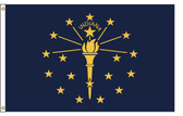 Indiana 6'x10' Nylon State Flag 6ftx10ft