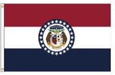 Missouri 6'x10' Nylon State Flag 6ftx10ft