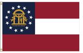 Georgia 8'x12' Nylon State Flag 8ftx12ft