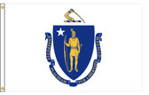 Massachusetts 8'x12' Nylon State Flag 8ftx12ft