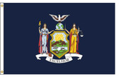New York 8'x12' Nylon State Flag 8ftx12ft