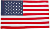 Koralex II 2 1/2'x4' Spun Polyester Banner Sleeved U.S. Flag By Valley Forge Flag
