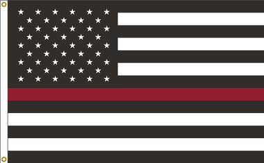 Thin Red Line US American 3ftx5ft Nylon