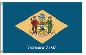 Delaware 3'x5' Nylon State Flag 3ftx5ft