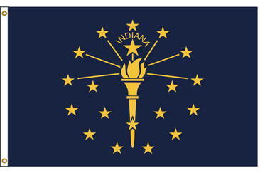 Indiana 3'x5' Nylon State Flag 3ftx5ft