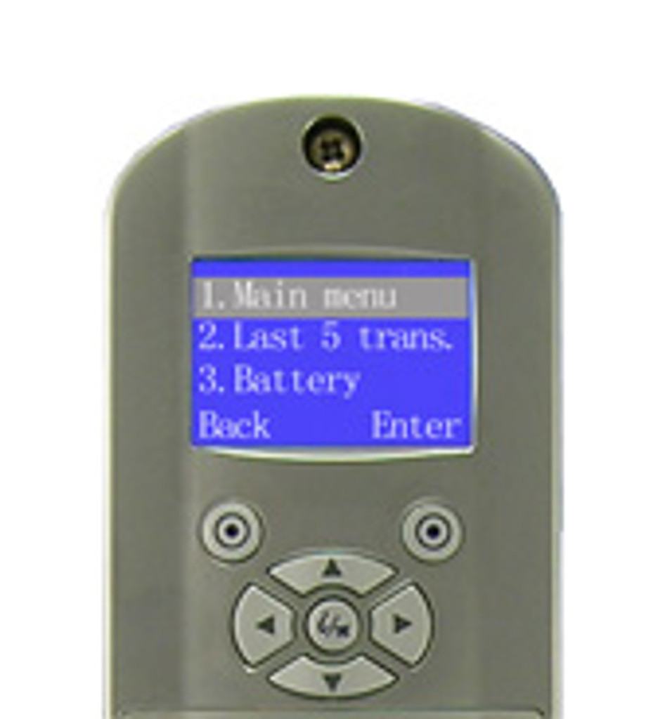 1TouchXL Fingerprint Lock Management Screen Display