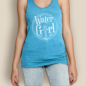 SALE Boating AA Tank Top - WaterGirl Rope Anchor
