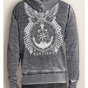 Men's Full-Zip Hoodie - NautiGuy Eagle Vintage