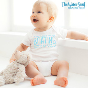 Just Thinking About Boating, Makes Me Wet Myself - Baby Boy Bodysuit