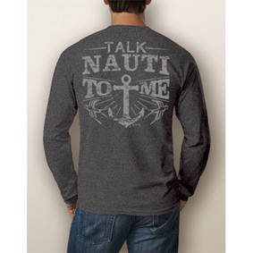 Men's Boating Long-Sleeve Shirt - NautiGuy Talk Nauti