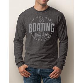 Men's Boating Long-Sleeve - NautiGuy Lucky Enough