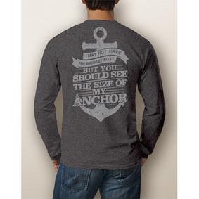 Men's Boating Long-Sleeve - NautiGuy Big Anchor