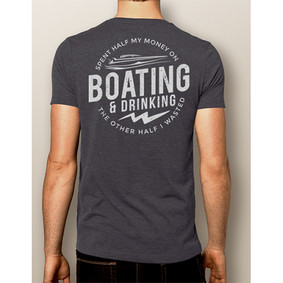 Men's Boating T-shirt - NautiGuy Drinking ( More Color Choices)