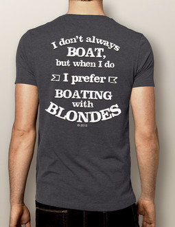 Men's Boating T-shirt - NautiGuy Boating with Blondes