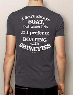 Men's Boating T-shirt - NautiGuy Boating with Brunettes
