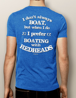 Men's Boating T-shirt - NautiGuy Boating with Redheads