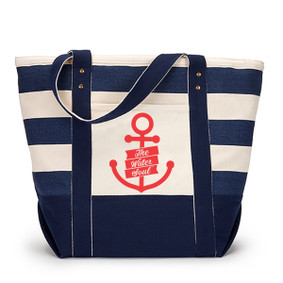 Seaside Zippered Large Anchor Tote