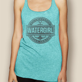 Boating Tank Top - WaterGirl Summer Lightweight Racerback