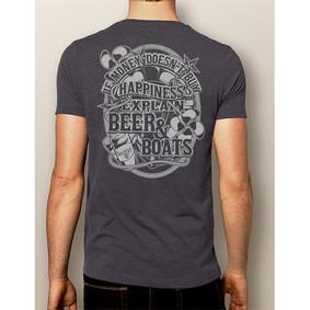 Men's Boating T-Shirt- NautiGuy Beer & Boats