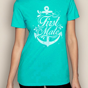 Women's Boating T-Shirt- First Mate Crew Neck