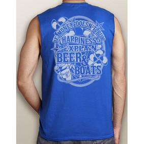 Men's Boating Sleeveless T-Shirt- NautiGuy Beer & Boats