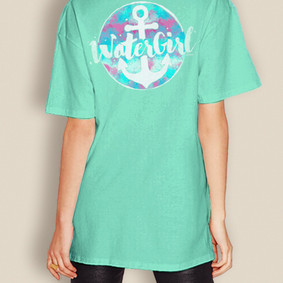 WaterGirl Comfort Colors Colourful Short Sleeve Shirt